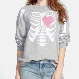 Wildfox My Beating Heart Oversized Crewneck XS